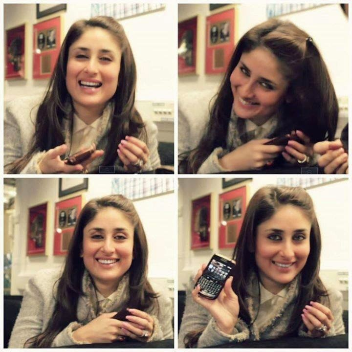 Kareena Kapoor Playing with her Mobile