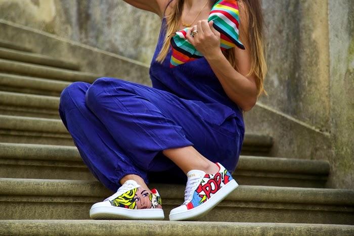 pochette colorata arcobaleno
