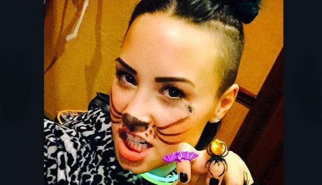 Pesta Halloween Demi Lovato