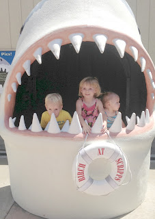 Shark with 3 kids 1