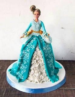 foto Cara Menghias Kue Tart Barbie