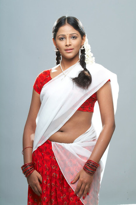 subhiksha spicy in saree hot photoshoot