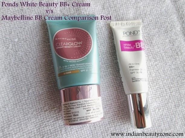 Indian Beauty Zone: Ponds White Beauty BB+ Cream v/s ...