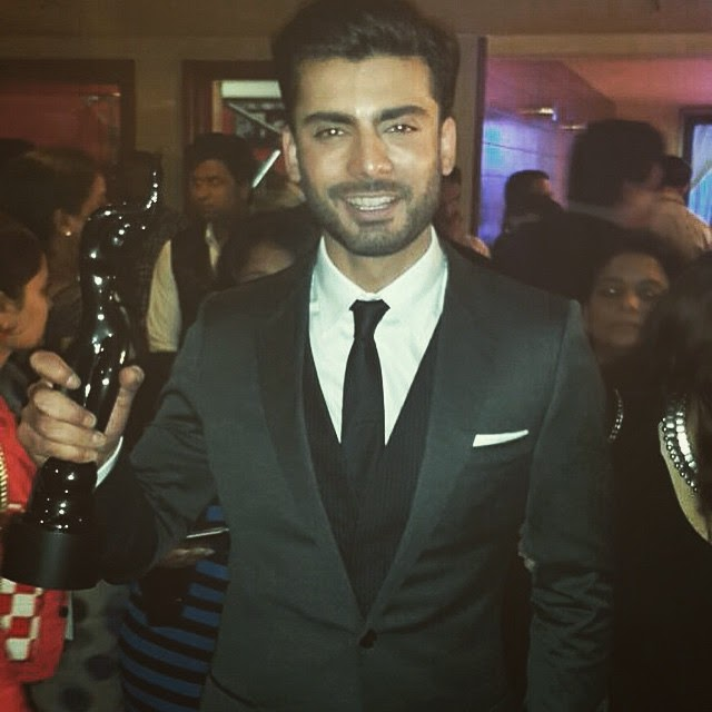 Fawad Khan with his trophy