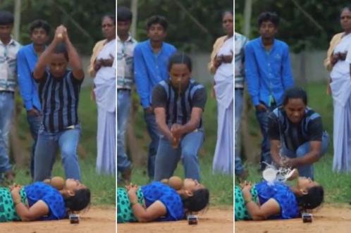 Memang Gila!.. Aksi Lelaki  'Tetak' Leher Isteri Di Khalayak Ramai