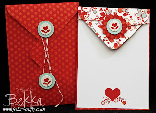 My Little Valentine Stamps with free Sealed with Love Simply Set Kit - get the exclusive tutorial for this free when you purchase the stamps from Stampin' Up! Demonstraor Bekka Prideaux