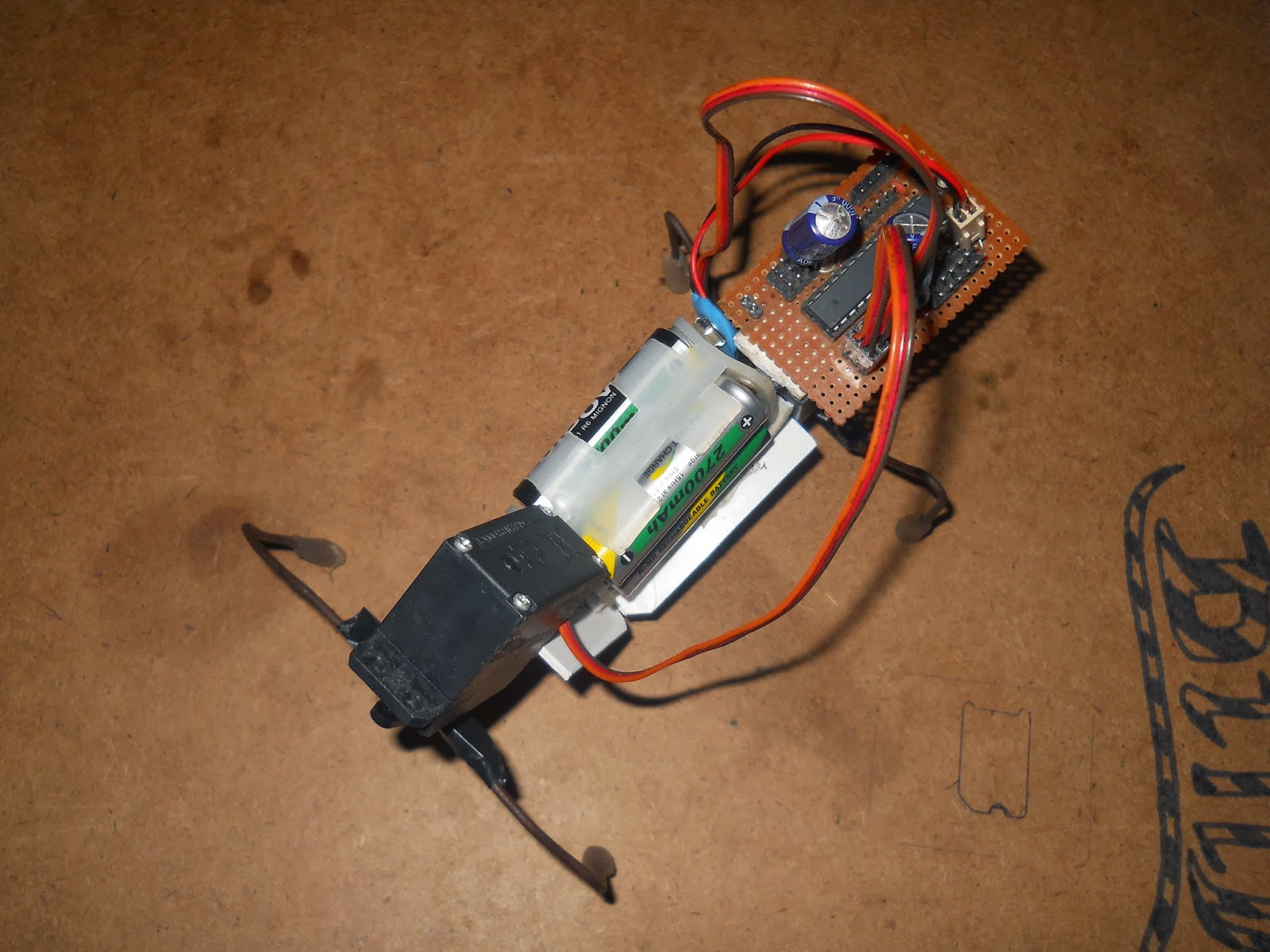 Robo zone arduino based quadruped robot using servos