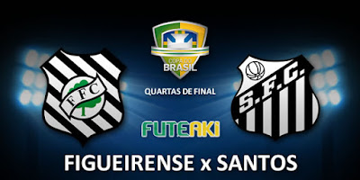 Confronto entre Figueirense e Santos pelas quartas de final da Copa do Brasil 2015.