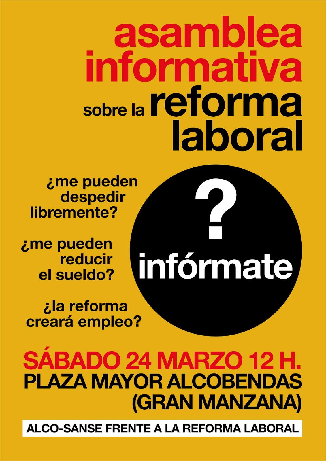 C s iskra 24 m asamblea informativa sobre la reforma - Reformas en alcobendas ...
