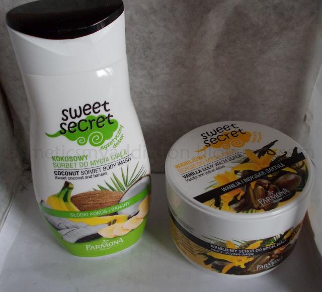 Farmona Sweet secret: Kokosowy sorbet do mycia ciała i Waniliowy scrub do mycia ciała