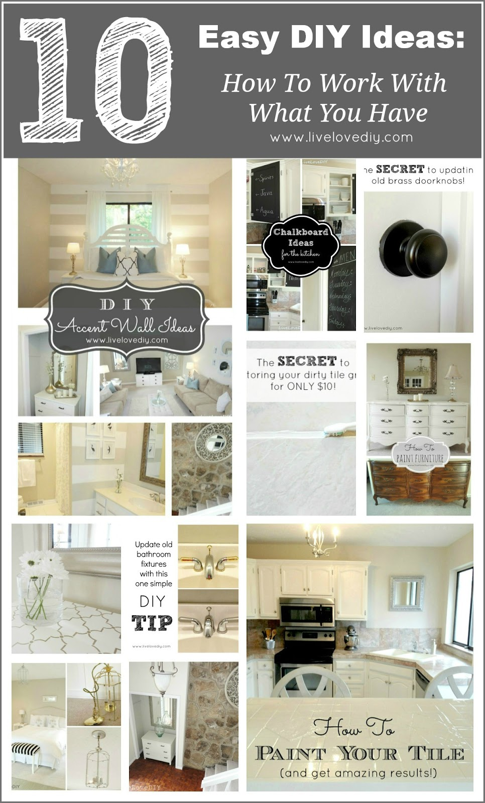 10 home improvement ideas how to make the most of what you already have livelovediy bloglovin. Black Bedroom Furniture Sets. Home Design Ideas
