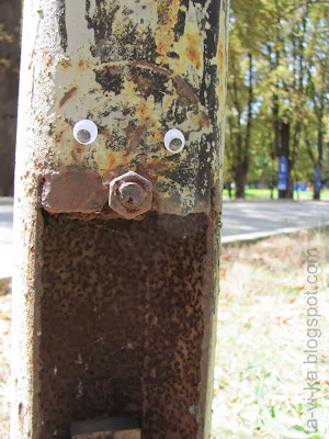 лэнд-арт бегающими глазками