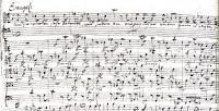Bach Passion - manuscript