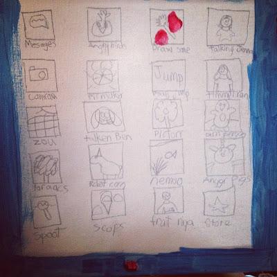 Selbst gemaltes iPad von der Nichte