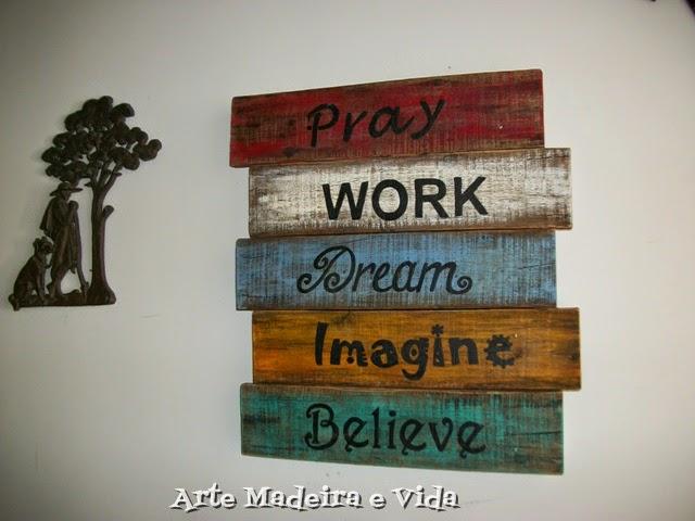 Placa Pray Work