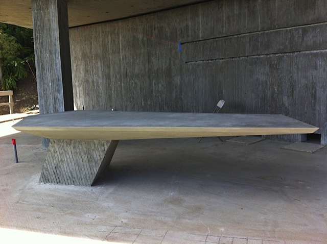 Concrete Cantilevered Desk Architectoid