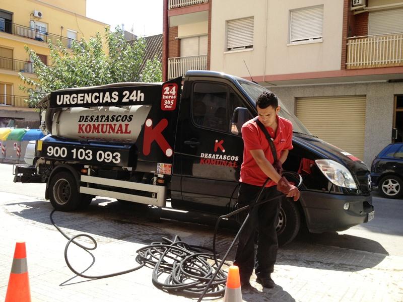Desatasco de tuberías en Sabadell