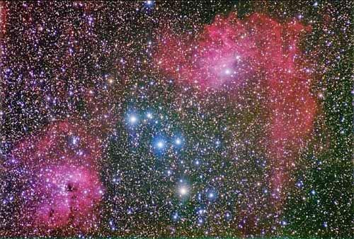 nébuleuses dans la constellation du cocher.