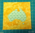 Aussie Map Applique
