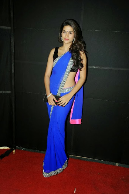 Shraddha Das in Saree at Rey A to Z Look Launch