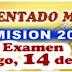 Ingresantes Residentado Medico. Examen 14 de junio 2015. Conareme