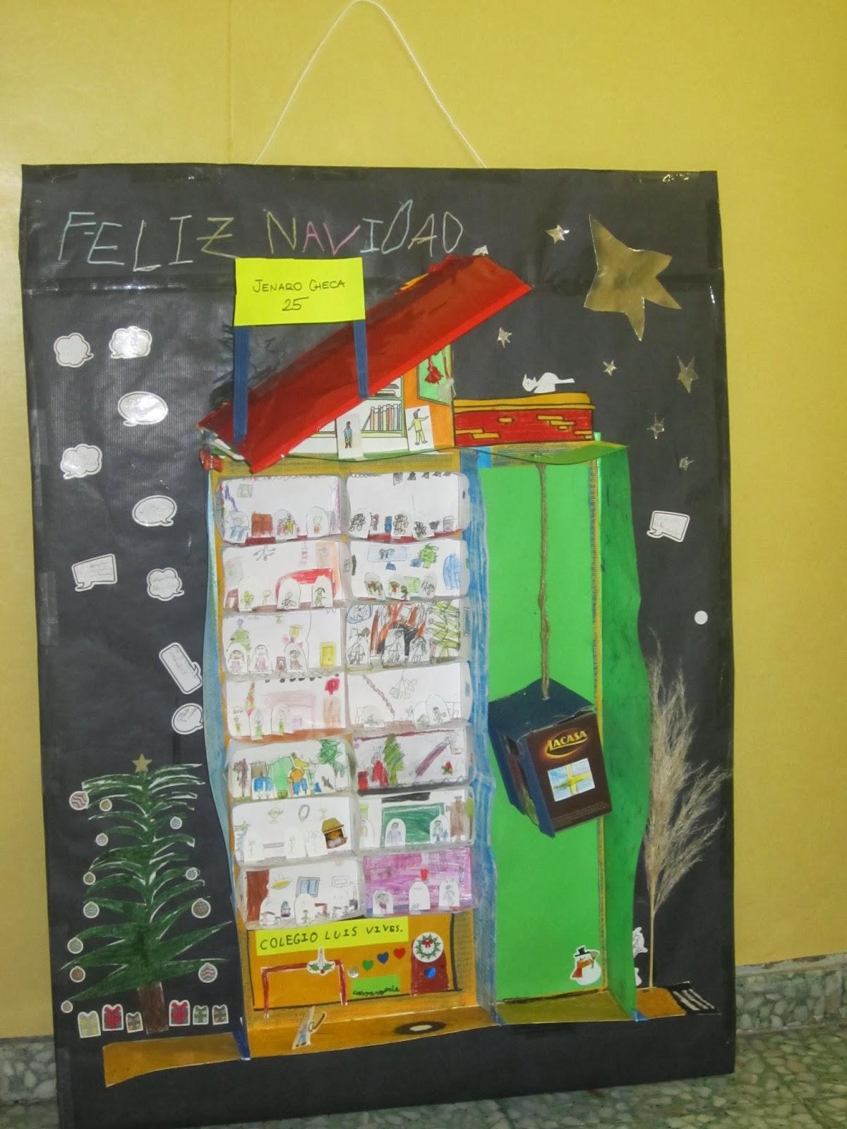 Ceip luis vives concurso de murales de navidad - Murales decorativos de navidad ...