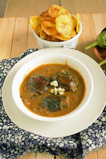 Serve Brinjal Karai kuzhambu with steamed rice