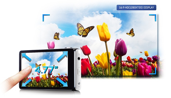 "Enjoy with 121.2mm (4.77"") HD Super Clear Touch Display"