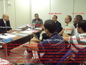 O Sgt. Ricardo em reunião com os aprovados e impetrantes do CFS/2011/PMPE/CBMPE NA GICAPE