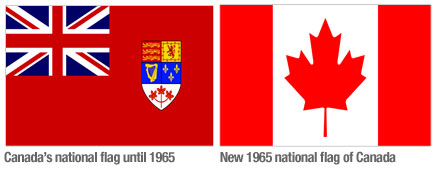 Canadian Flags Over The Years Making The Canadian Flag