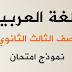 نماذج امتحانات الثانوية العامة لمادة اللغة العربية مصر 2015-2016 توقعات مرئية