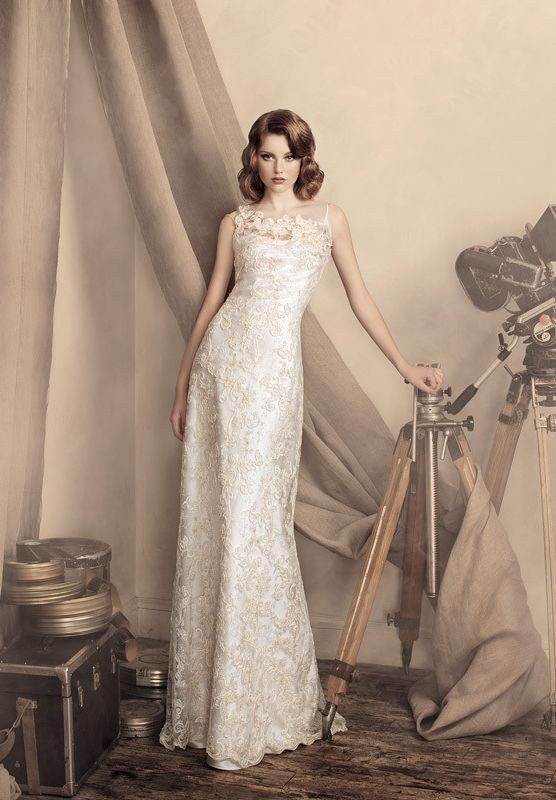 Simple Vintage Lace Wedding Dress : Vintage lace wedding dresses simple and elegant