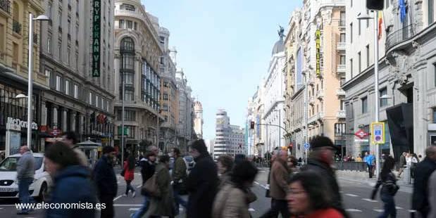 Imagen de área céntrica en Madrid