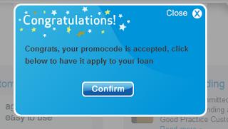 Wonga Promo Code, step 3