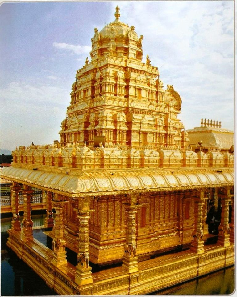 vellore golden temple images. Vellore - Golden Temple town