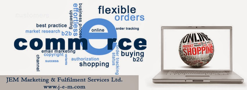Image of a different words that describe the process of online ecommerce