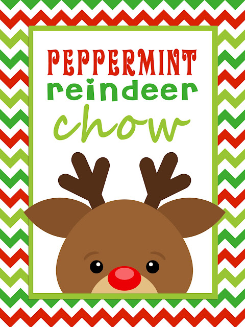 MBC: Peppermint reindeer chow - with FREE printable!