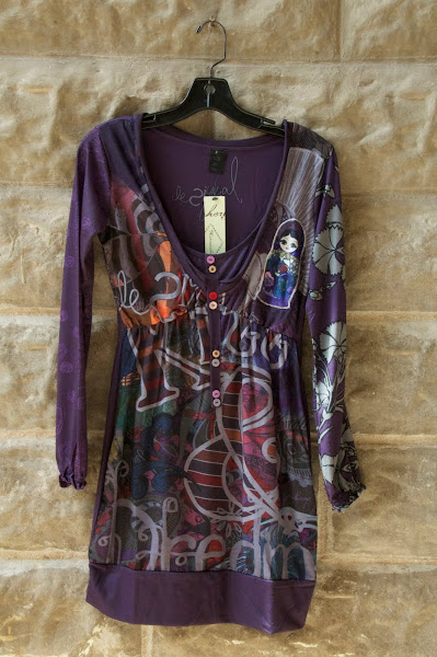 Russian Doll purple tee with embellishments.  S-XL,$122