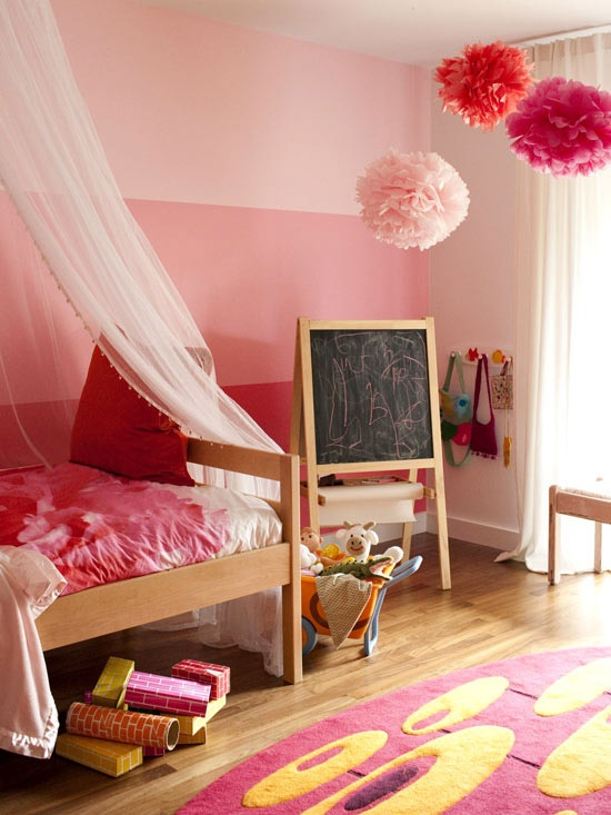 10 rooms how to incorporate bright pink paint into a girl