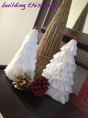 Ruffled Tabletop Christmas Trees