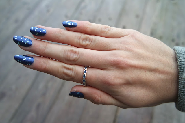 Nails Inc Holbien Palace and Models Own Blue Sparkle