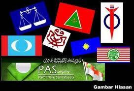 Parti bertanding, BN,PAS,DAP,PKR,BEBAS