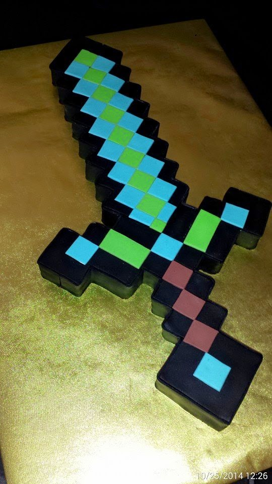 Cakes By Diana in Charlotte NC,: Minecraft sword cake