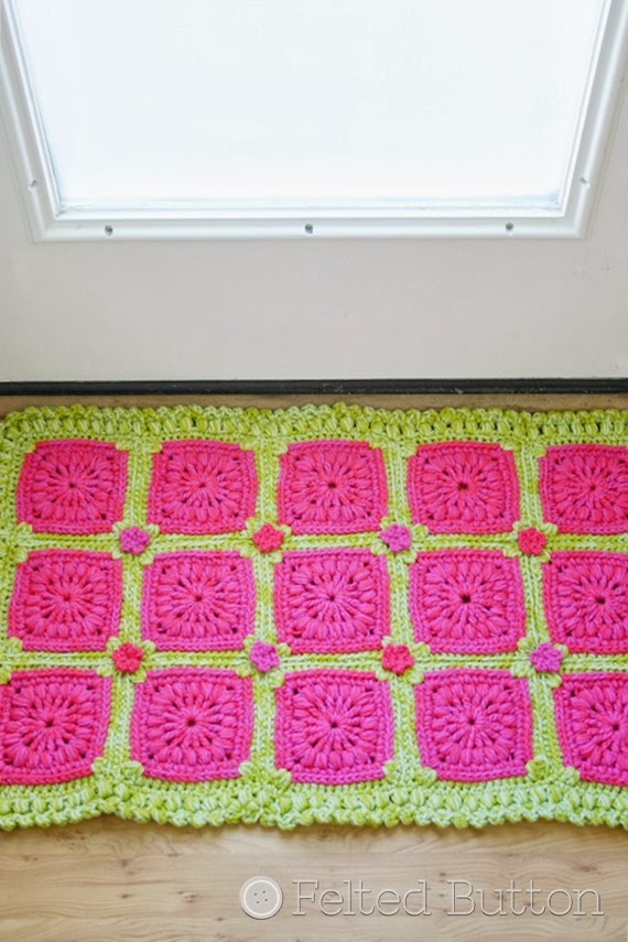 Melon Berry Rug Crochet Pattern by Susan Carlson of Felted Button
