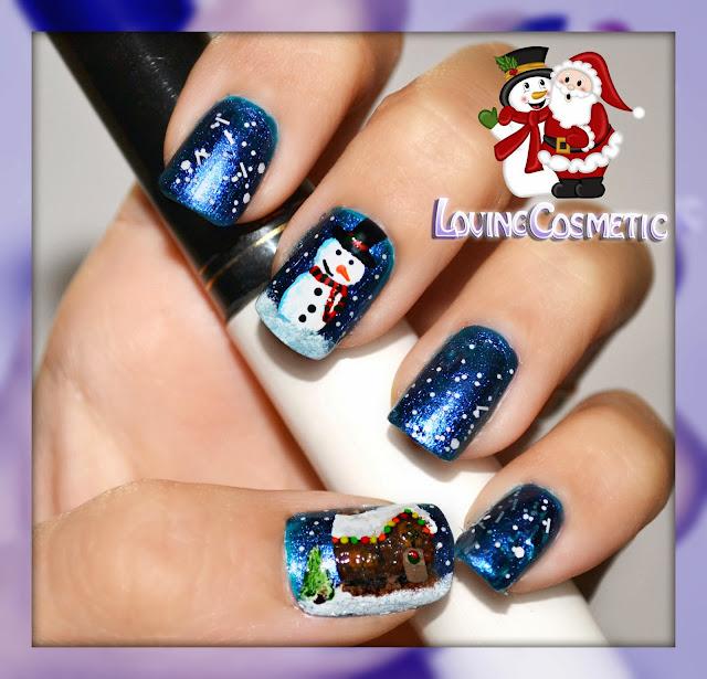 navidad winter christmas casa hansel gretel snowman muñeco de nieve manicuras nail nails nail art uñas uña unhas