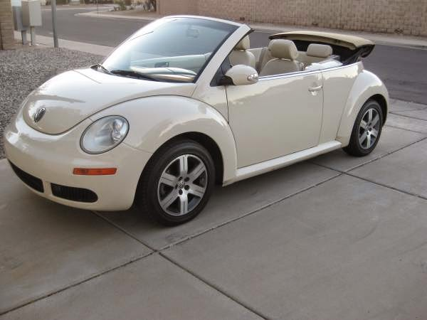 used 2006 vw beetle convertible low miles automatic by owner. Black Bedroom Furniture Sets. Home Design Ideas