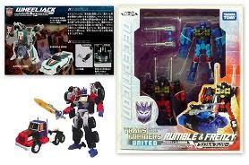 TRANSFORMERS UNITED UN-19 Wheeljack, UN-20 Rumble & Frenzy, UN-22 Laser Optimus Prime