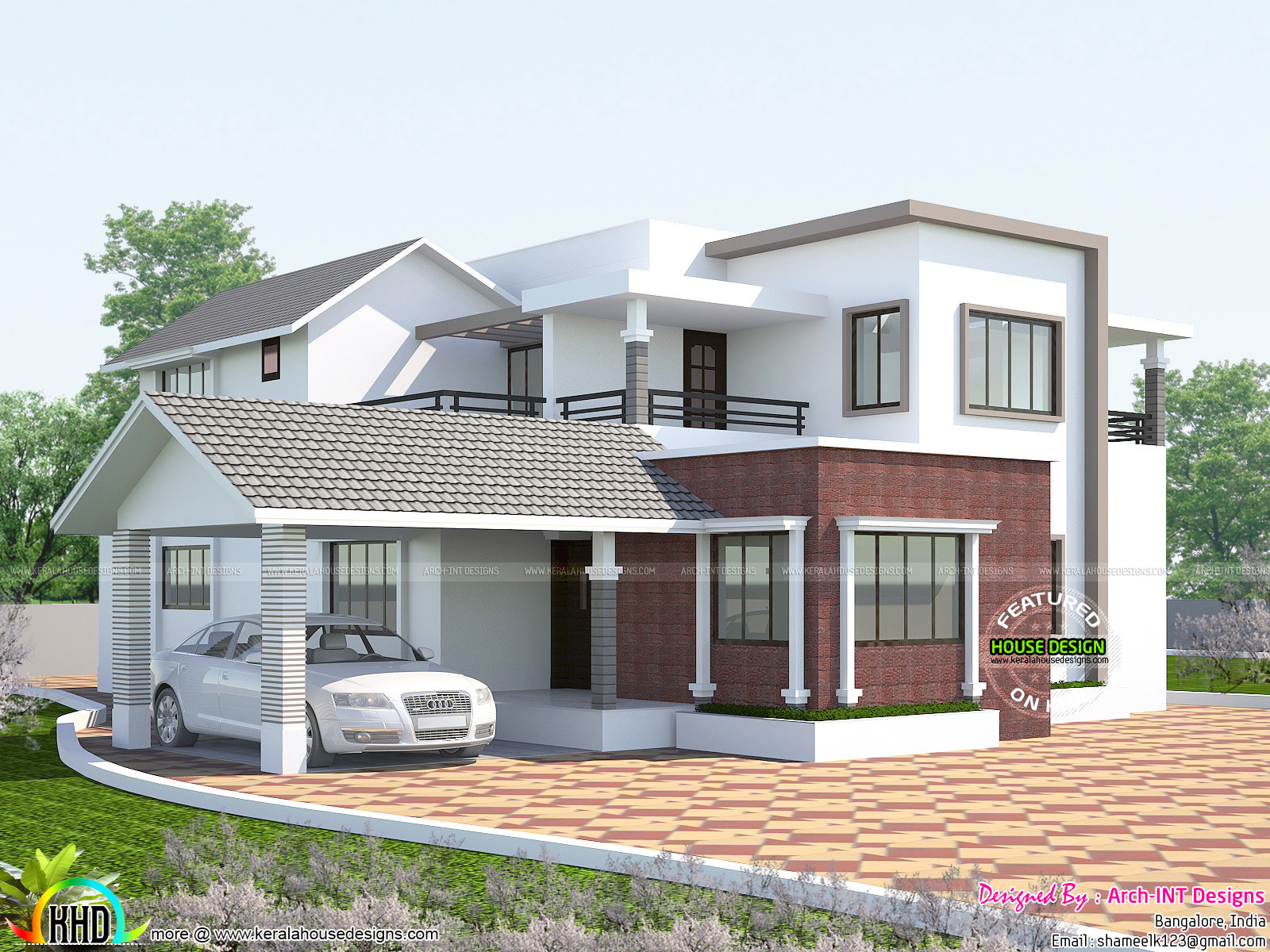 2660 square feet mix roof home kerala home design and for Square house design