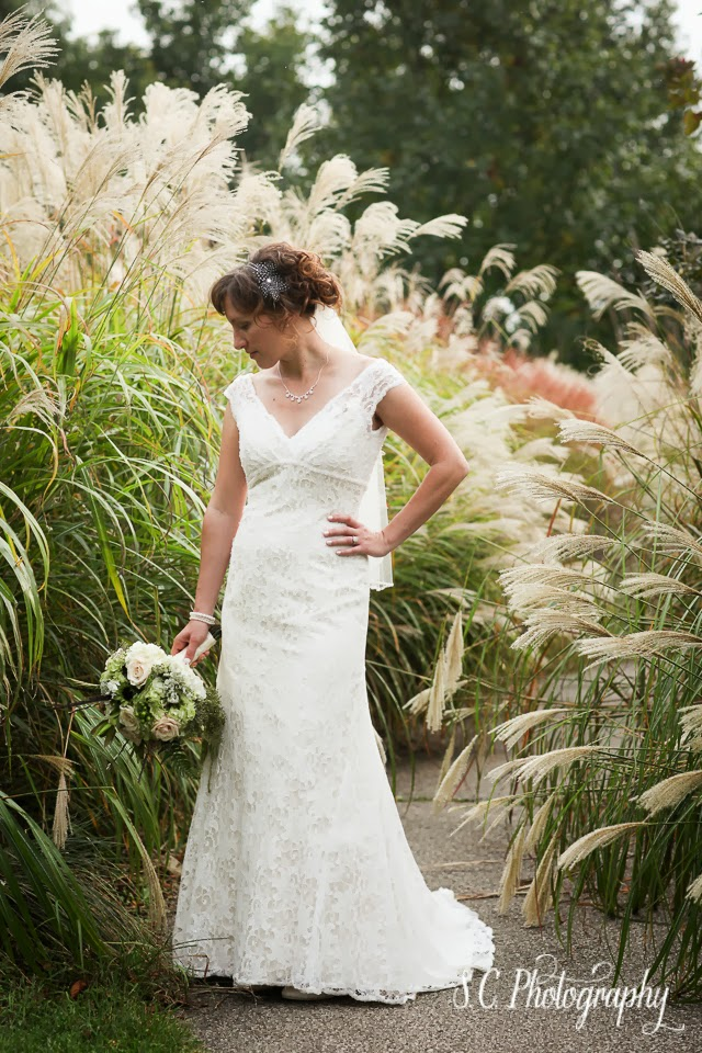 lace gown bridal portrait