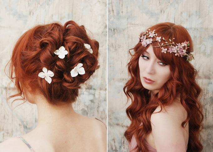Detalles florales para el cabello de las novias